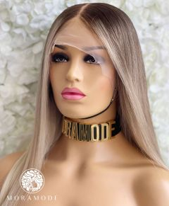 ANGIE, DARK ROOTED BLONDE, FACE FRAMING HIGHLIGHTS, CUSTOM DELUXE LACE WIG