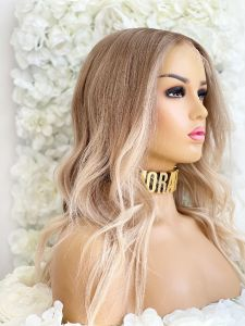 KHLOE INSPIRED, LIGHT BLONDE, ROOTED, CUSTOM DELUXE LACE WIG