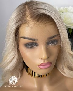CINDY, ROOTED, LIGHT PLATINUM BLONDE CUSTOM DELUXE, FULL LACE WIG