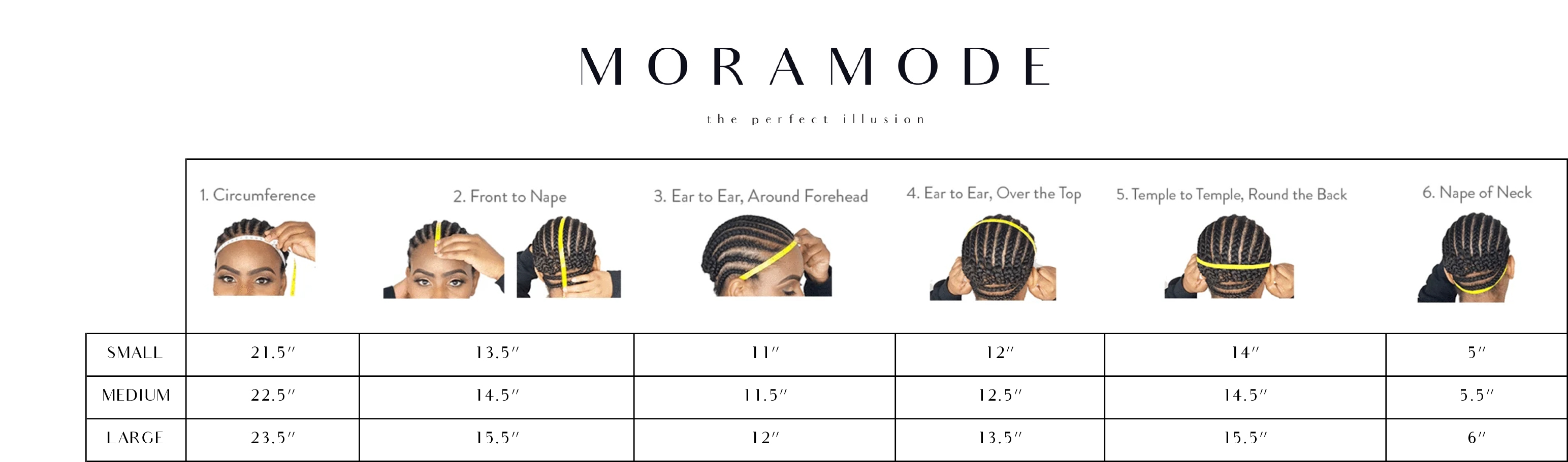 Wig Measurements - How to measure your head for lace wigs