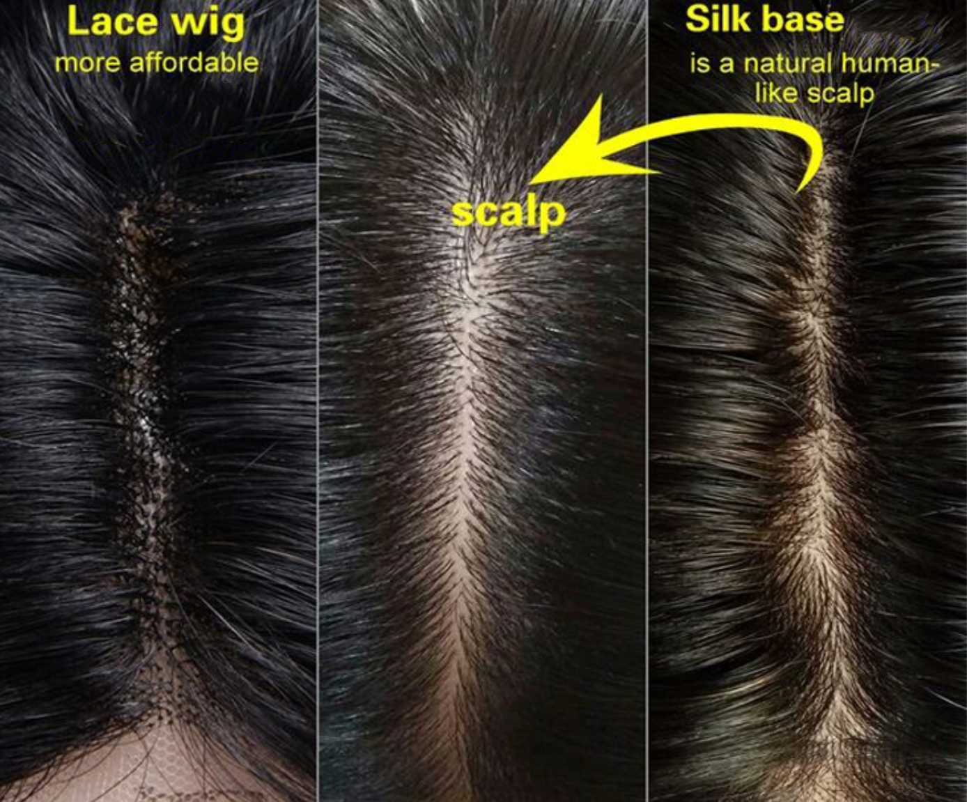 Difference Between a Silk Base and Lace Wig